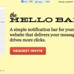 Gratis agrega una barra superior a tu blog o website para ganar más dinero con Hello Bars