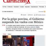 Argentina y Cuba prohiben entrada de aviones procedentes de México debido a la Influenza