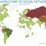 Las redes sociales en el mundo, Facebook, Hi5, Orkut vea cual es la más importante en su país