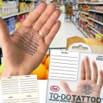 Tatuajes o Tattoos para no olvidarse de nada, productos extraños y novedosos