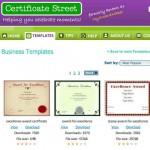 Idea de negocios para diseñadores gráficos, un sitio con decenas de modelos gratis de diplomas y certificados