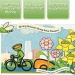 Sopa a domicilio en bicicleta, una idea de negocios novedosa, ecológica y saludable
