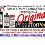Productos extraños, vender orina de predadores para espantar animales que dañan la agricultura