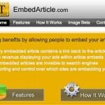 EmbedArticle, un programa para ganar dinero si alguien copia los contenidos de tu blog o website