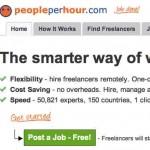 Ganar dinero por internet trabajando por horas con People Per Hour