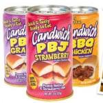Productos extraños como ideas de negocios, sandwichs, hamburguesas en latas