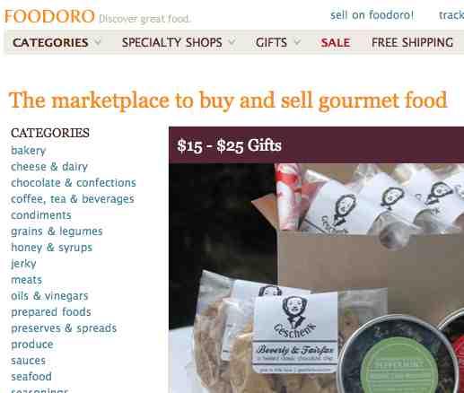 Ideas de negocios rentables por internet, un sitio web sólo de venta de alimentos gourmet