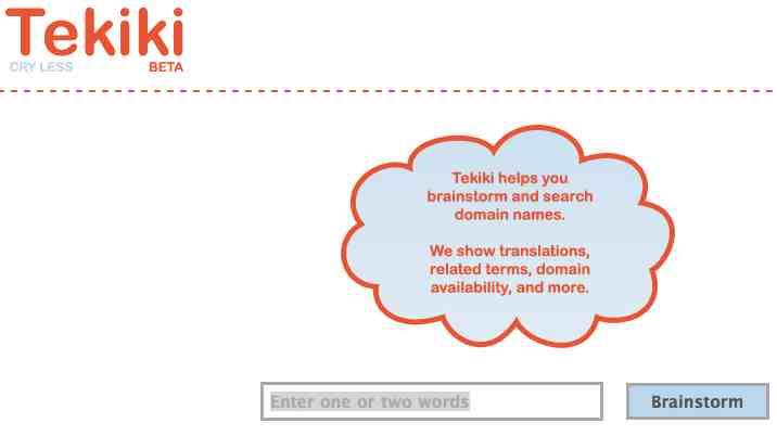 Tekiki un servicio gratis para encontrar el mejor nombre para su idea de negocios o dominio para su blog