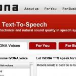 Ivona, un sistema de reconocimiento de voz por internet para su idea de negocios, convierta textos en audios