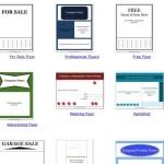 """Modelos gratis de documentos para hacer avisos para pequeños negocios como trípticos o avisos """"se vende"""""""