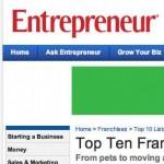 Ranking de las 10 mejores industrias para desarrollar franquicias en el 2011