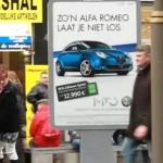 Viral marketing, haz que la publicidad de tu idea de negocios siga a tus clientes, original propuesta de AlfaRomeo