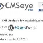 CMSeye una herramienta que te dice bajo qué plataforma está hecho un website
