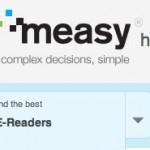 Measy una excelente idea para un website, un sitio que te ayuda a elegir el mejor equipo electrónico que necesitas