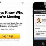 Noteleaf una aplicación gratis que te da información sobre las personas con las que te vas a reunir para hacer negocios