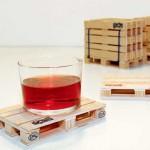 Ideas de negocios de diseño, originales diseños de posa vasos tipo palettes,