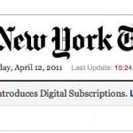 El sistema de PayWall del New York Times causó un bajón de visitas a dicho website de entre 5% al 15%