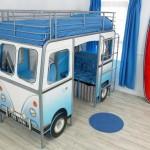 Una cama tipo camioneta para cuartos pequeños de niños y niñas, una idea de negocios original de diseño
