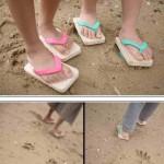 Original diseño de sandalias para niños y niñas con huellas de animales para vender más y ganar más dineo