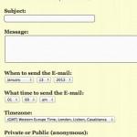 Una herramienta para enviar gratis emails a futuro y crear un sistema para motivarse en los negocios