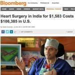 Negocios con la vida humana, una operación al corazón cuesta una centésima parte en la India que en Ohio-USA