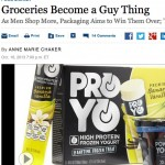 Comestibles de supermercados ahora diseñados para hombres, el marketing del empaquetado