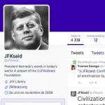 Resucitando a los presidentes y a los famosos muertos en Twitter