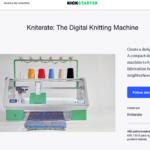 Kniterate, una idea de negocios para hacer una máquina de tejer digital con tus propios diseños de ropa